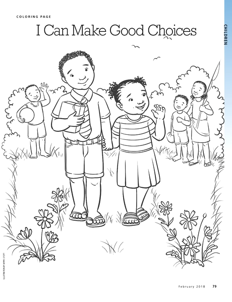 I Can Make Right Choices Coloring Page Making Good Choices Pages Coloring Pages