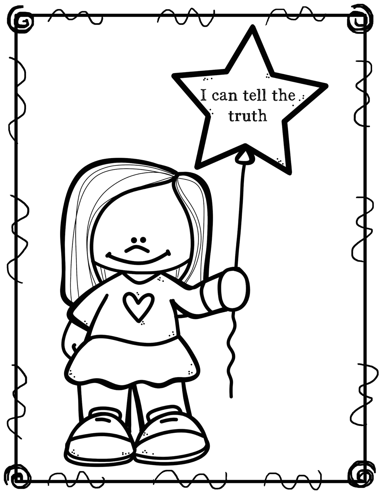 I Can Tell the Truth Coloring Page Tell the Truth Page Coloring Pages