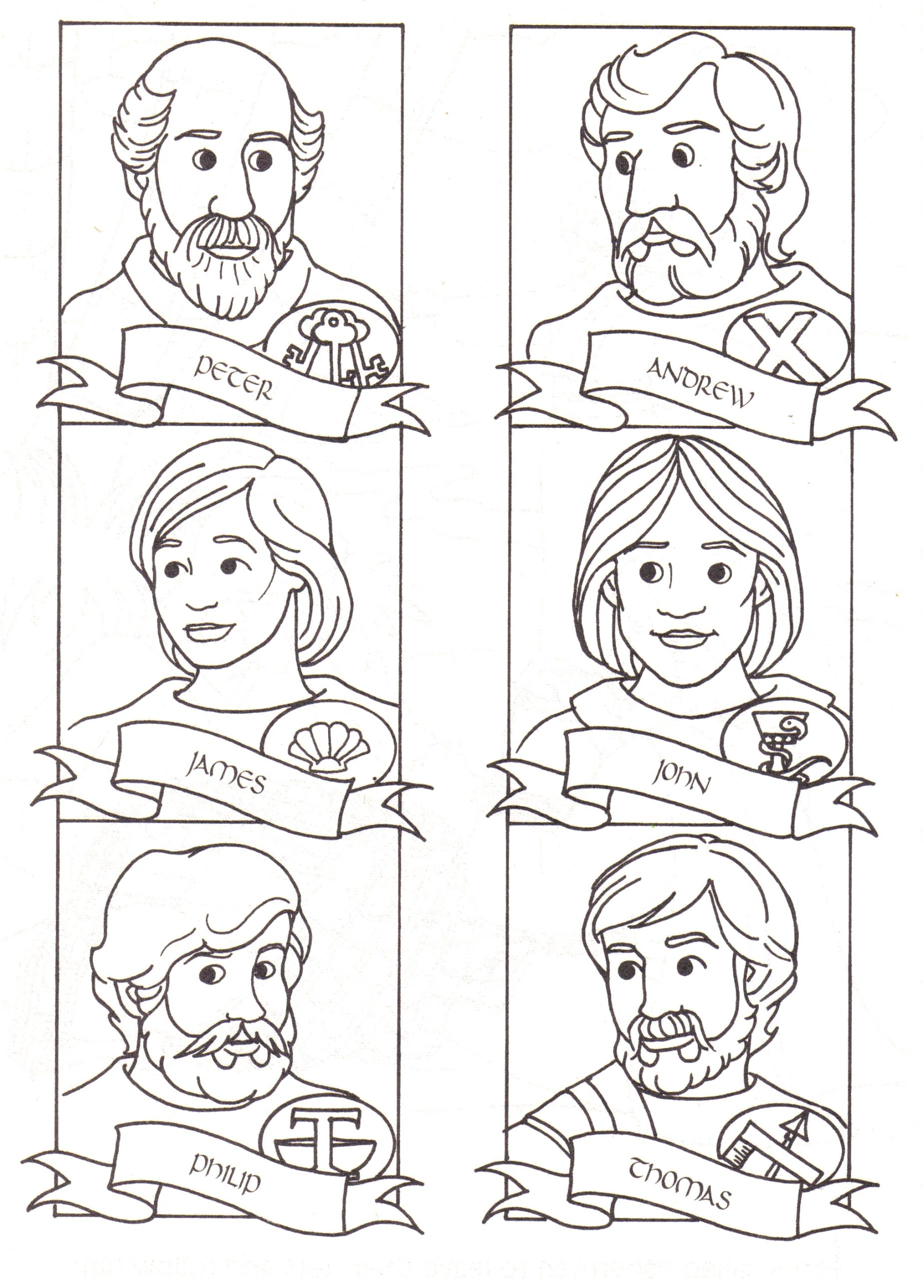 jesus and his disciples coloring pages