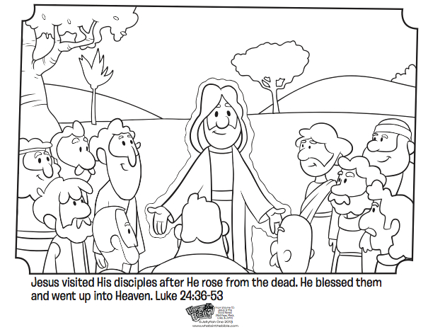 Jesus Appears to His Disciples Coloring Page Jesus Appears to His Disciples Bible Coloring Pages