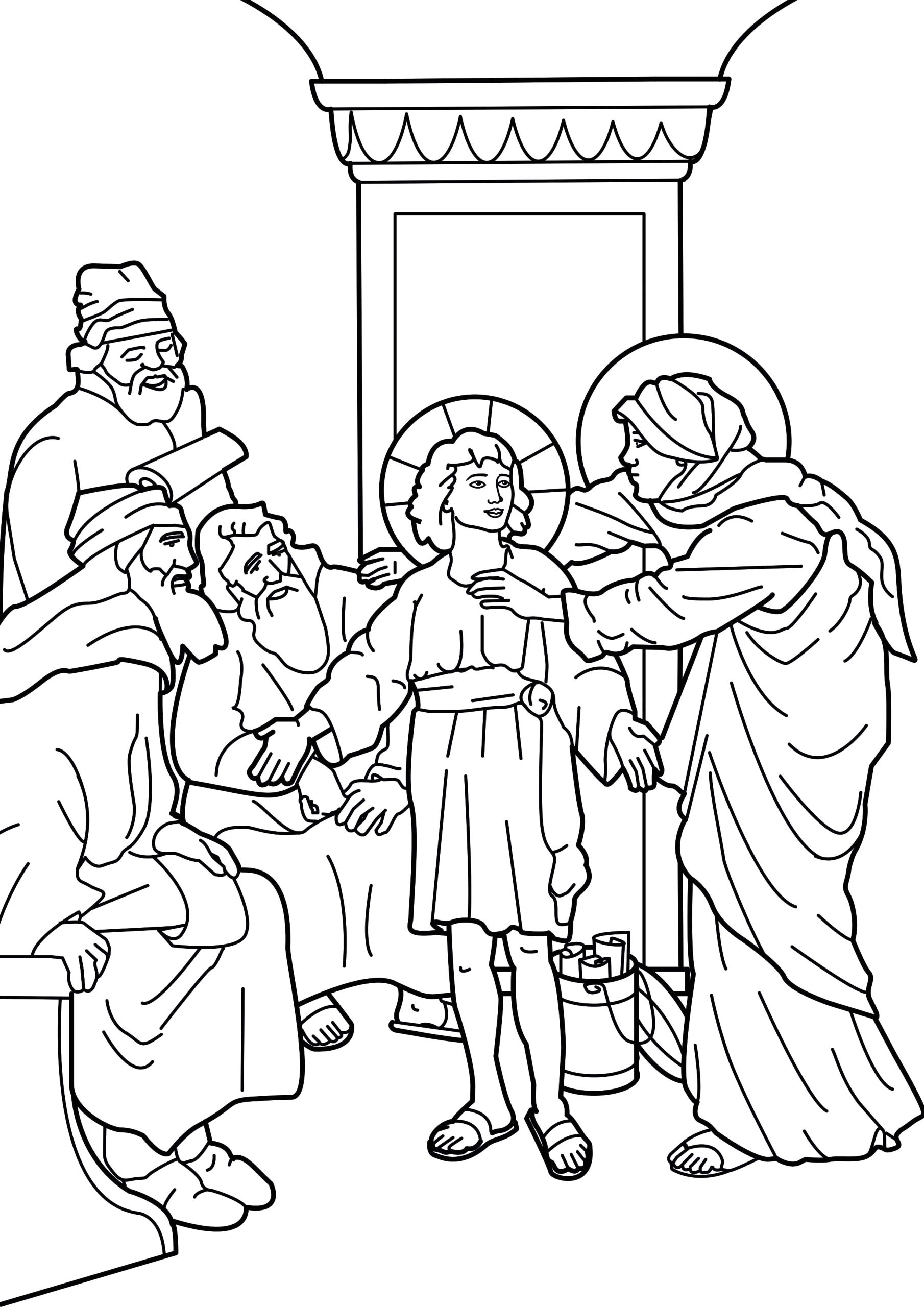 Jesus as A Boy In the Temple Coloring Page Pin by Catholic Word On Catholic Coloring Pages for Kids