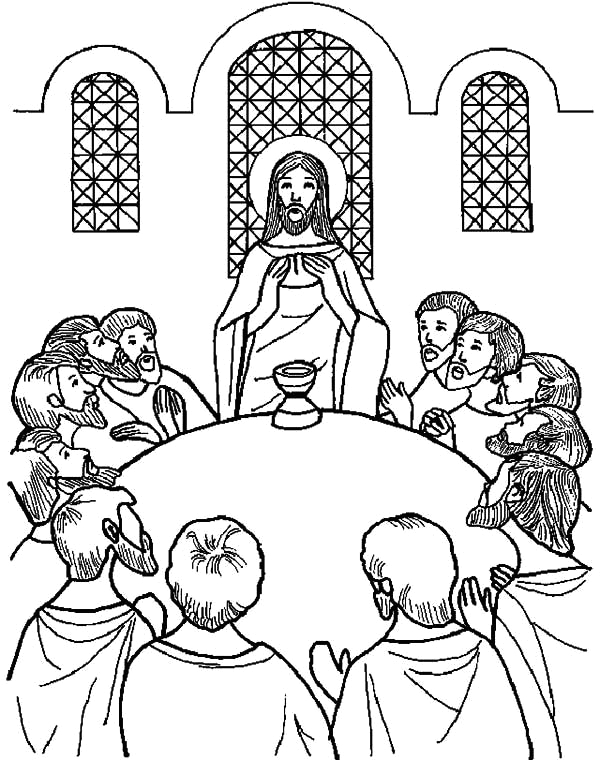 last supper coloring pages