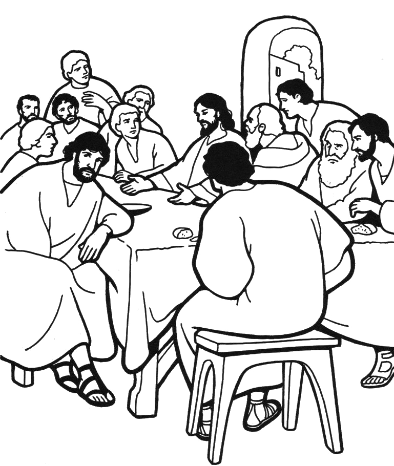 last supper clipart