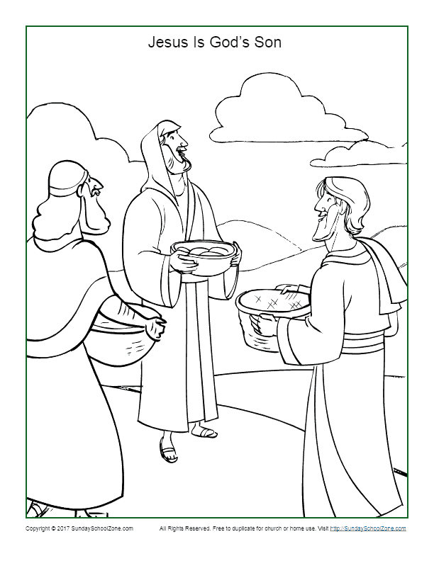Jesus Christ is the son Of God Coloring Page Jesus is the son Of God Coloring Page