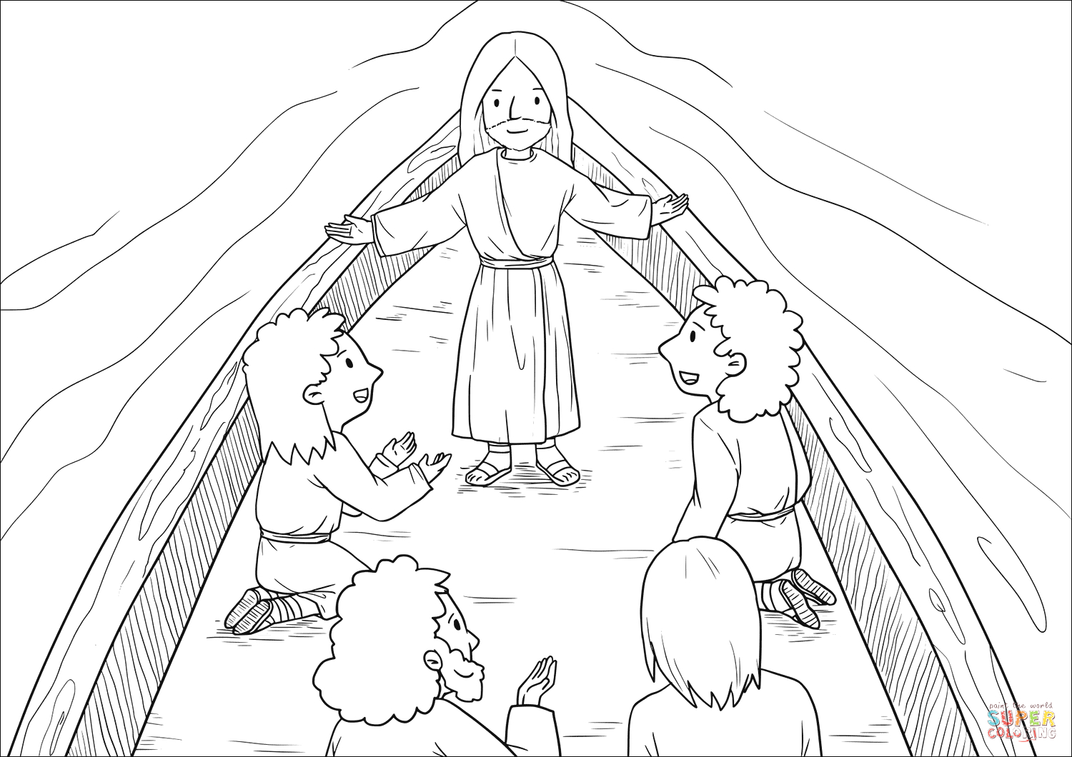 then those who were in the boat worshiped him saying truly you are the son of god