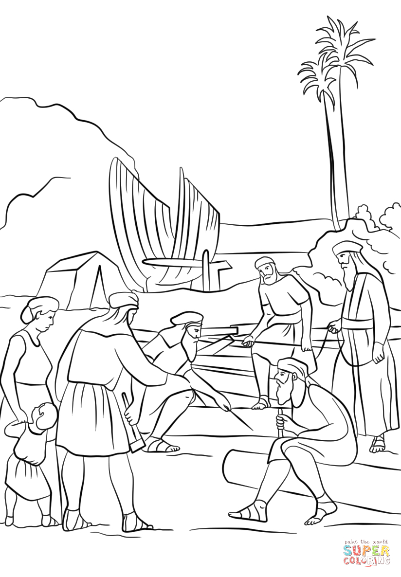 Lds Coloring Pages Nephi Builds A Ship Nephi Builds A Boat Coloring Page