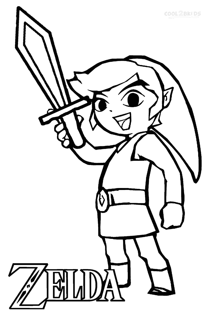 Legend Of Zelda Coloring Pages to Print Printable Zelda Coloring Pages for Kids