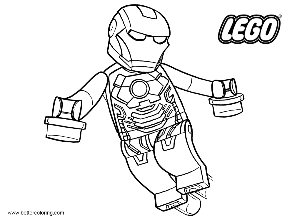 Lego Iron Man Coloring Pages to Print Iron Man From Lego Superhero Coloring Pages Free