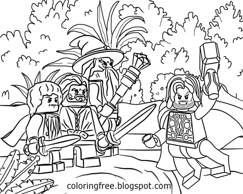 Lego Lord Of the Rings Coloring Pages Free Coloring Pages Printable to Color Kids