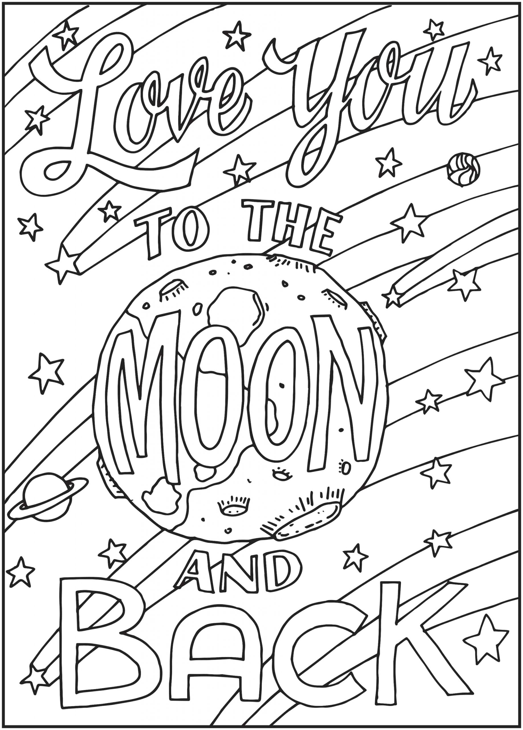 Love You to the Moon and Back Coloring Page Pnterest Books Best I Love You to the Moon and Back