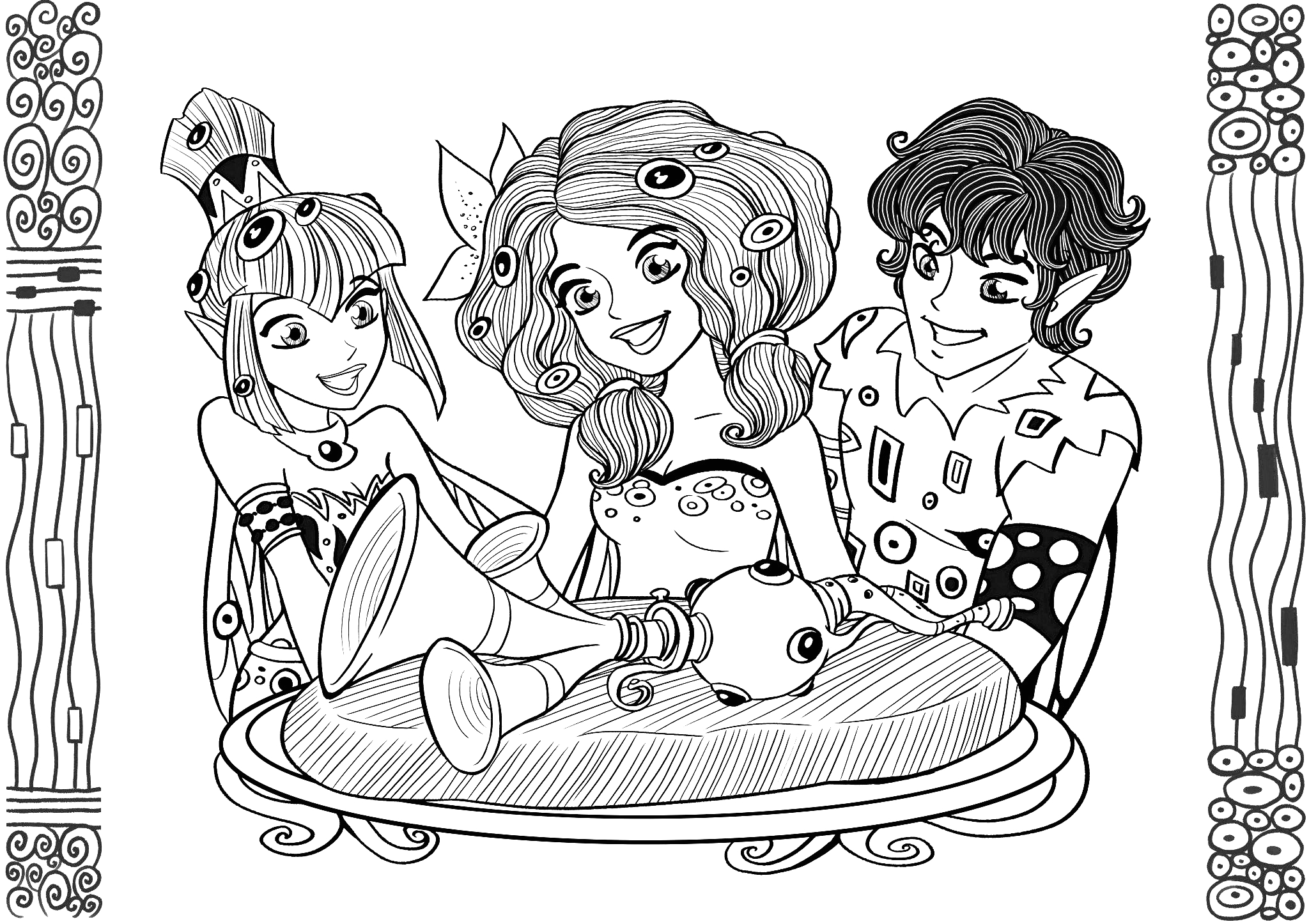 Mia and Me Coloring Pages to Print Mia and Me to Mia and Me Kids Coloring Pages
