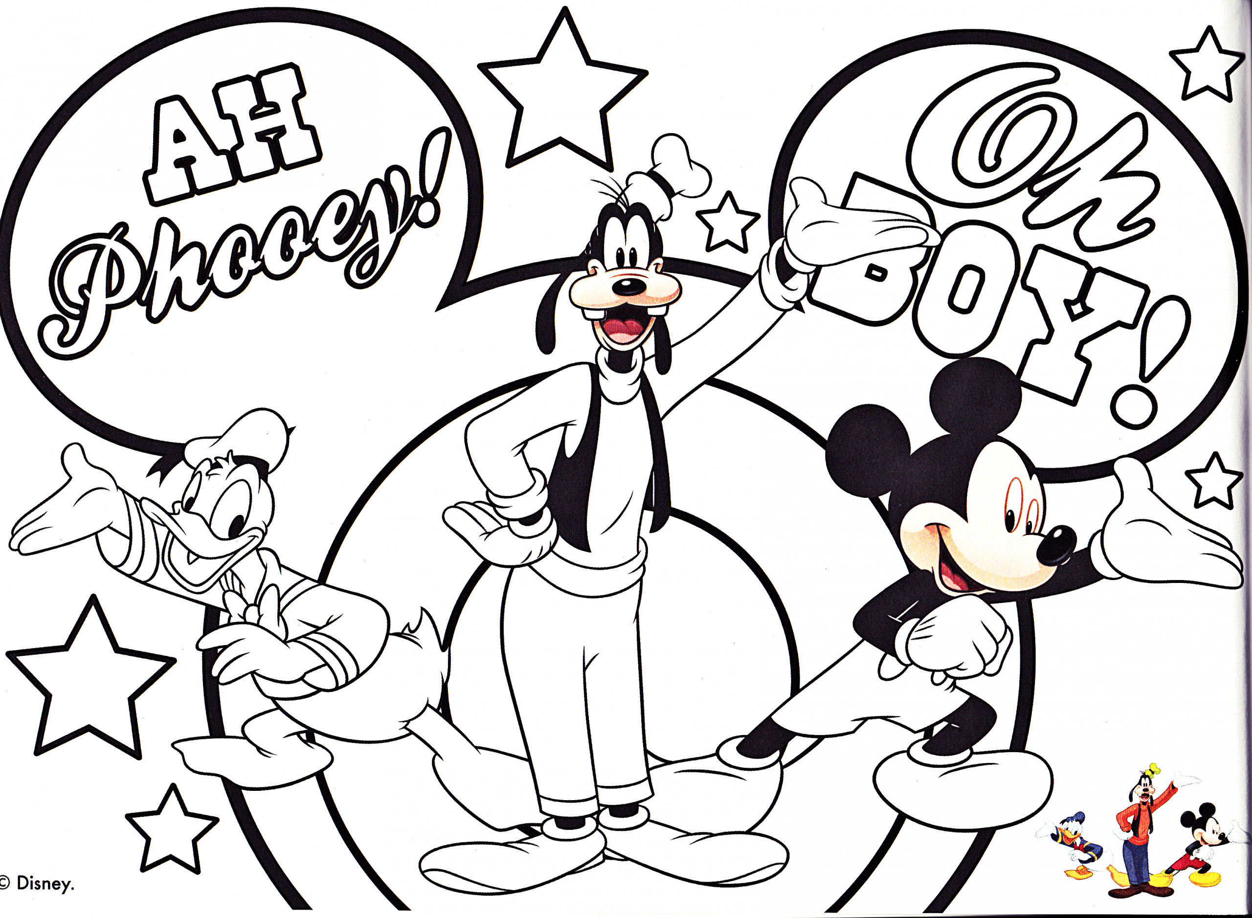 walt disney coloring pages donald duck goofy goof mickey mouse photo