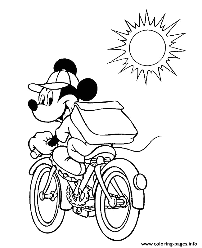 mickey goes to school disney e707 printable coloring pages book 7523