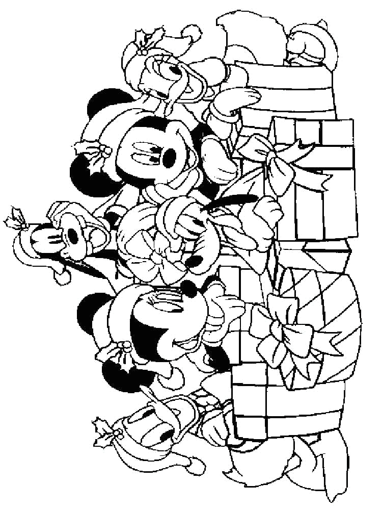 Mickey Mouse Christmas Coloring Pages Free Print Christmas Coloring Pages Mickey Mouse at Getdrawings