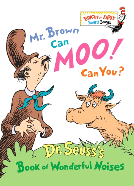 Mr Brown Can Moo Can You Coloring Pages Mr Brown Can Moo Can You Dr Seuss S Book Of Wonderful