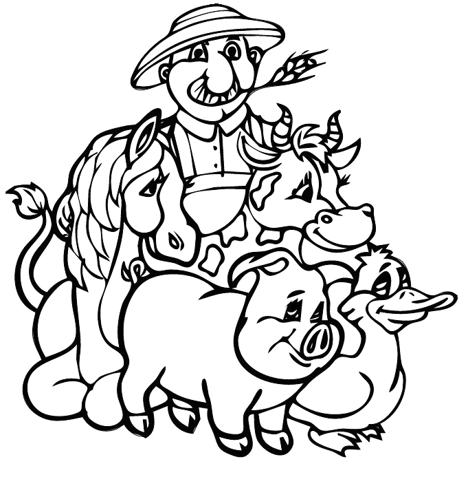 Old Macdonald Had A Farm Coloring Pages Kids & Mama Old Macdonald Had A Farm Coloring Page