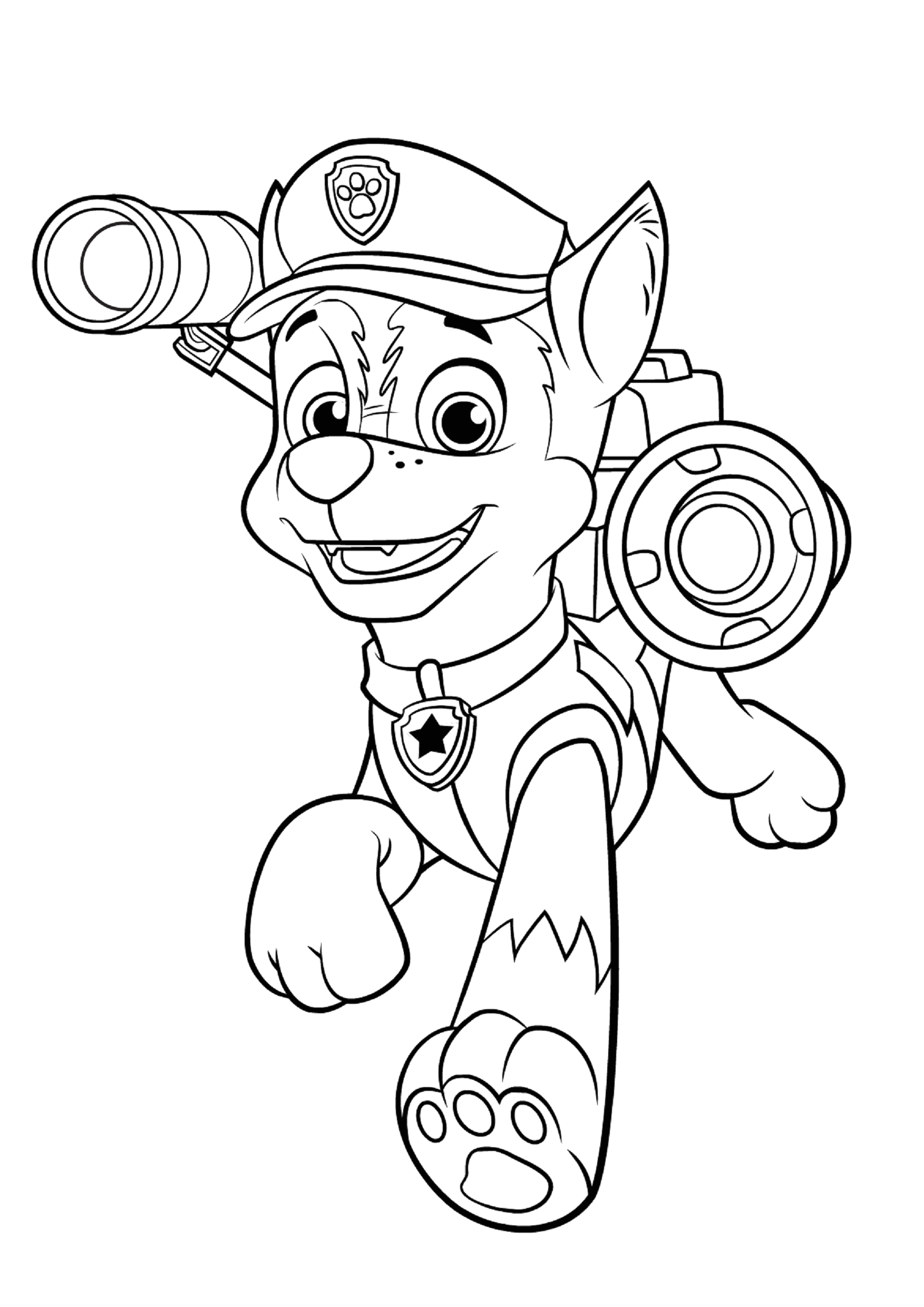 Paw Patrol Chase Coloring Pages to Print Chase Paw Patrol Coloring Pages to and Print for Free