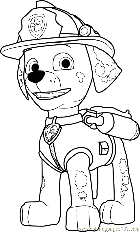 marshall coloring page