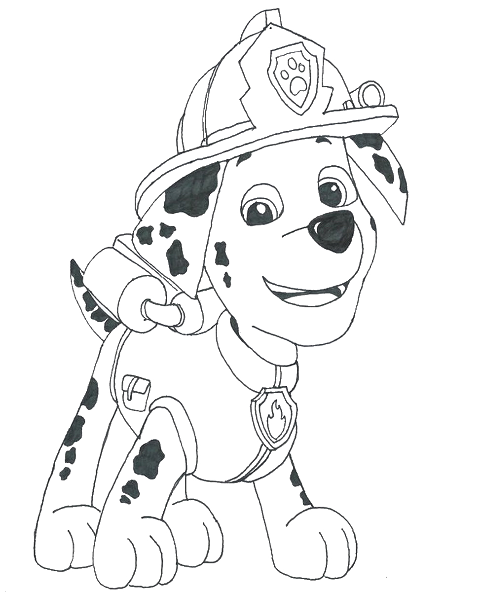 marshall paw patrol coloring pages 20