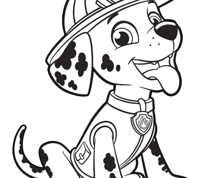 marshall paw patrol coloring pages printable