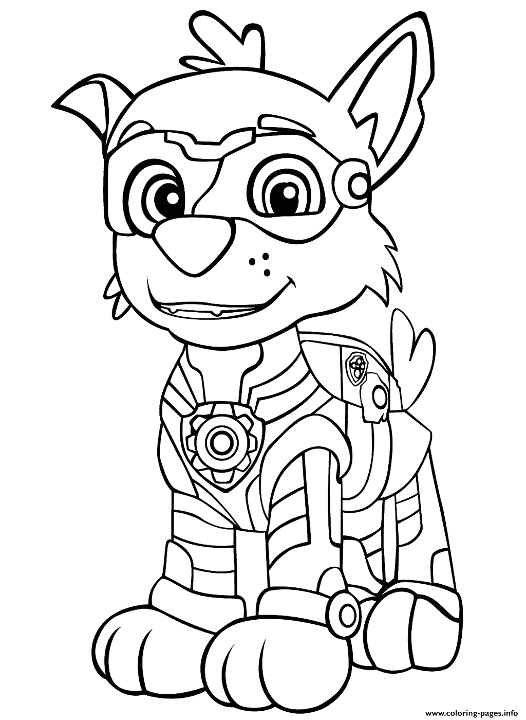 paw patrol mighty pups rockys printable coloring pages book