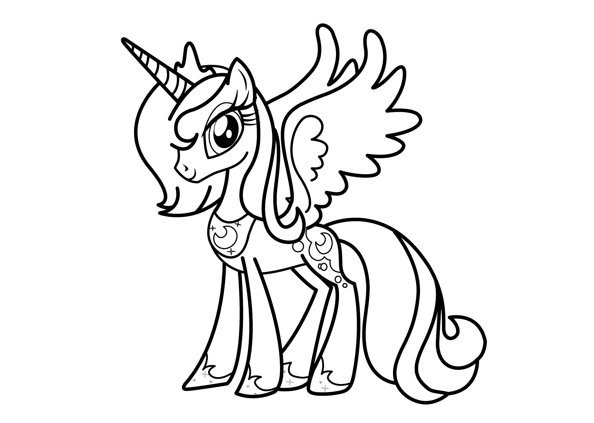 my little pony coloring pages princess celestia