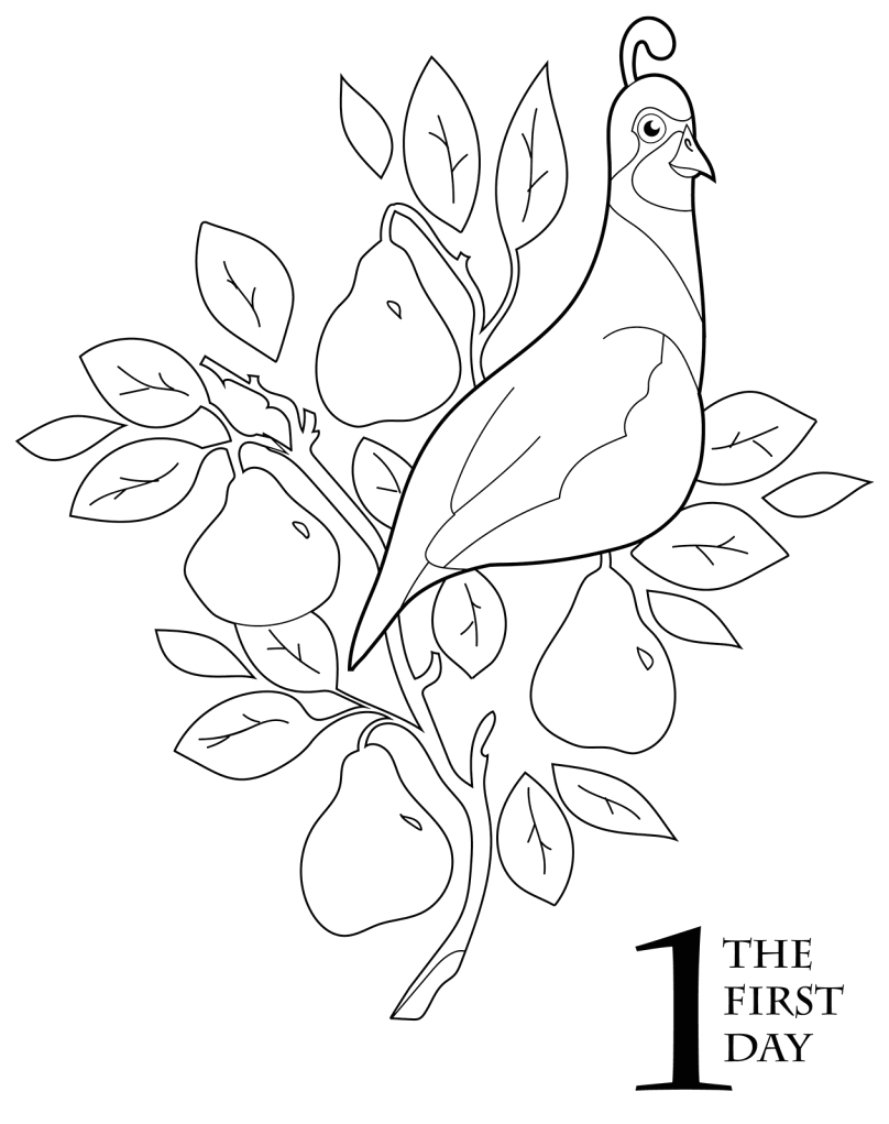 Printable 12 Days Of Christmas Coloring Pages the 12 Days Of Christmas Coloring Book Scholastic