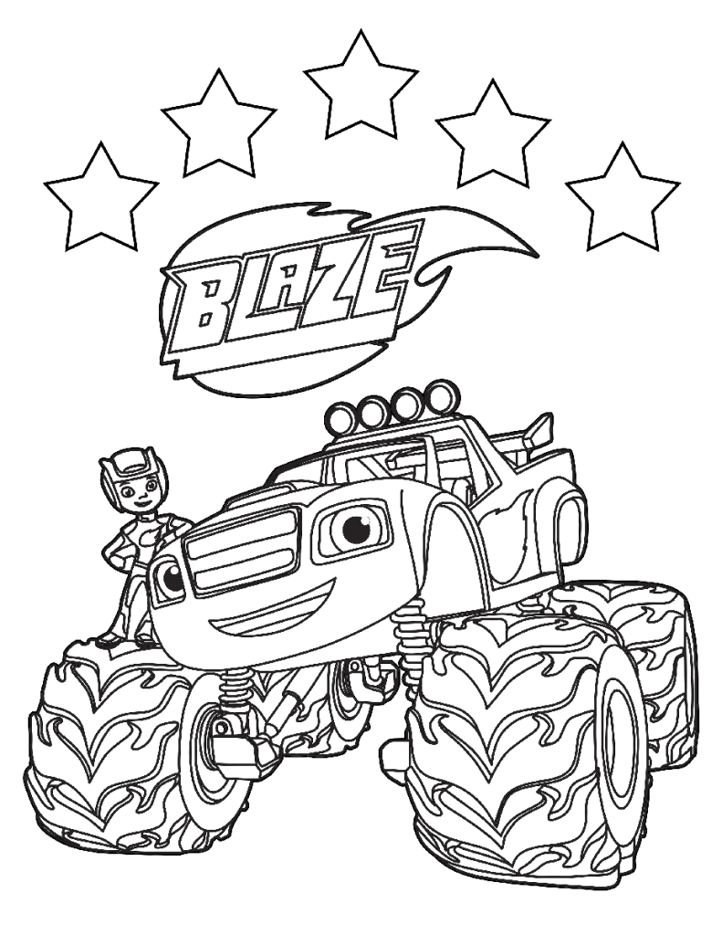 blaze and the monster machines coloring pages