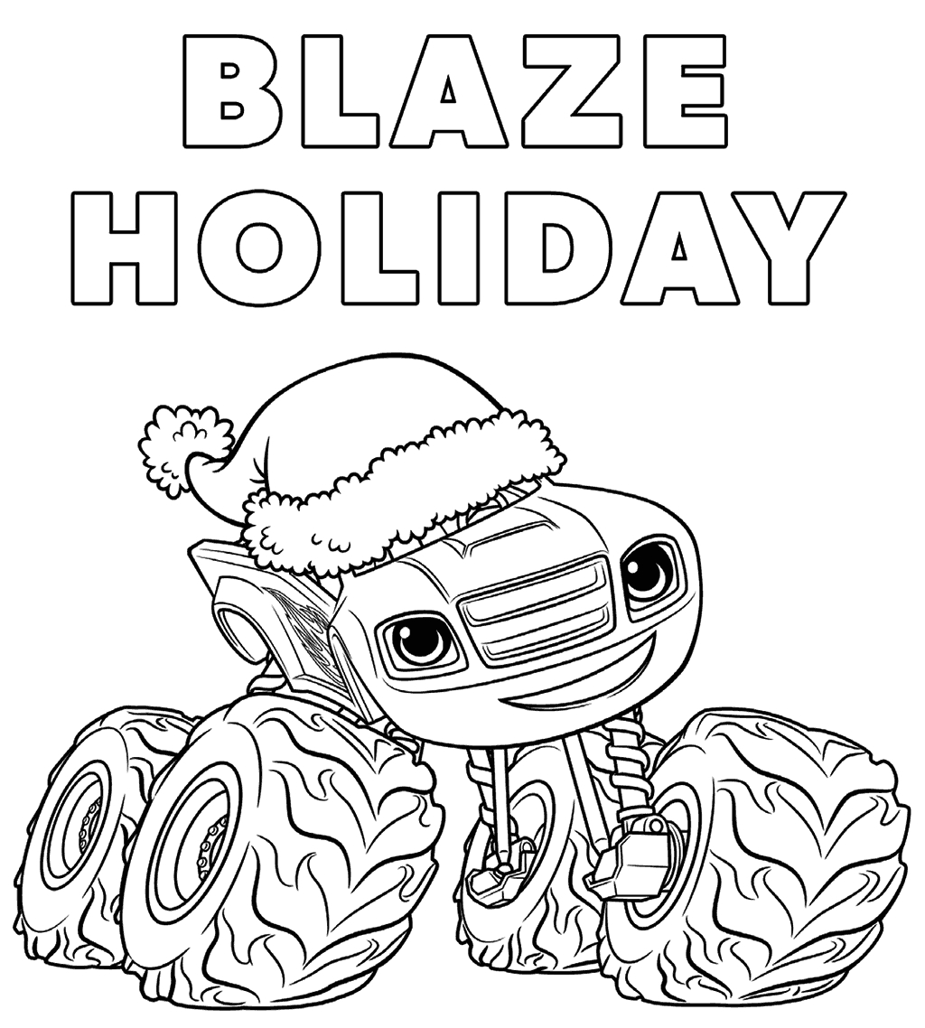 blaze monster machines coloring pages