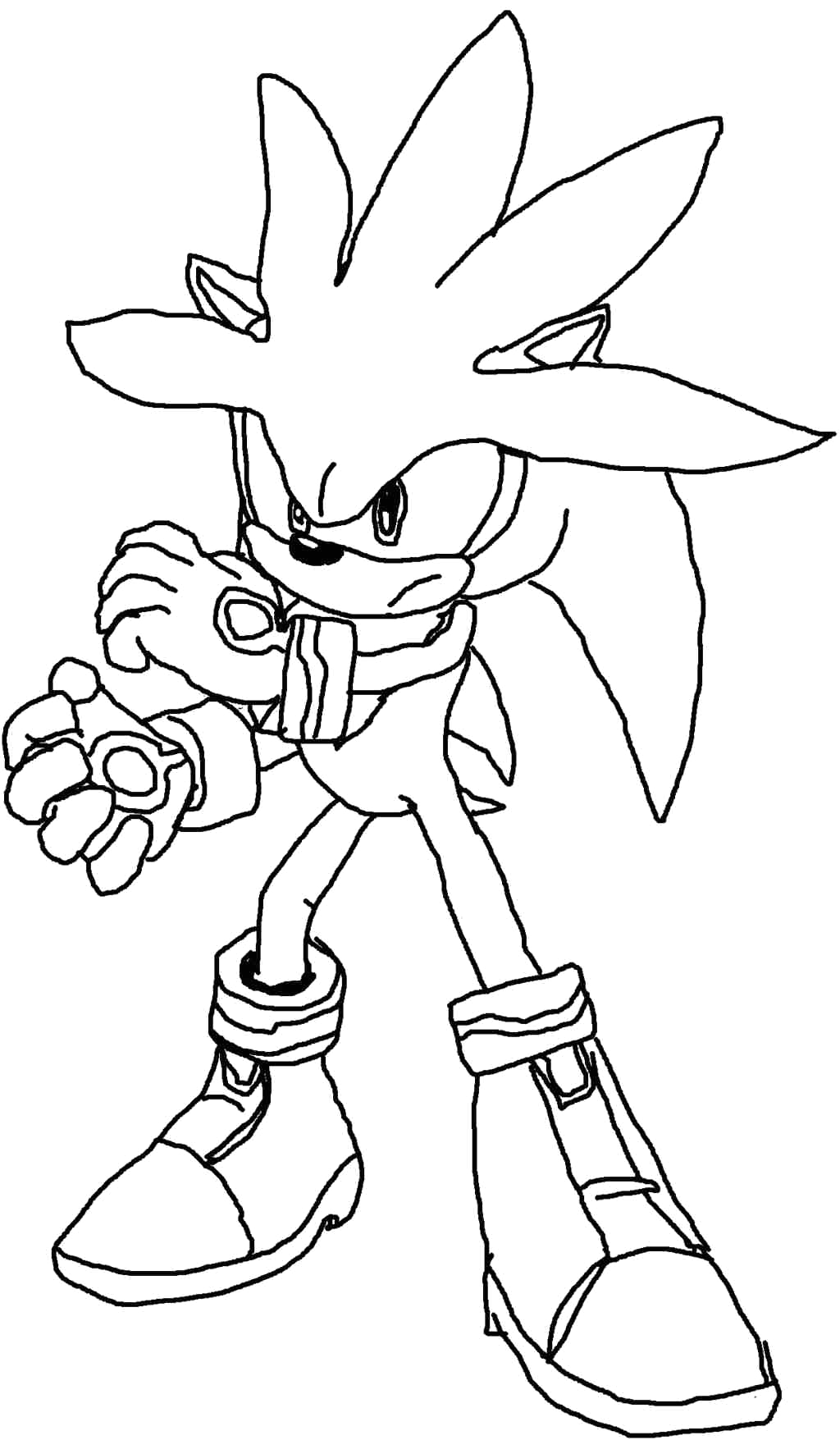 Silver the Hedgehog Coloring Pages to Print Silver the Hedgehog Coloring Pages at Getcolorings
