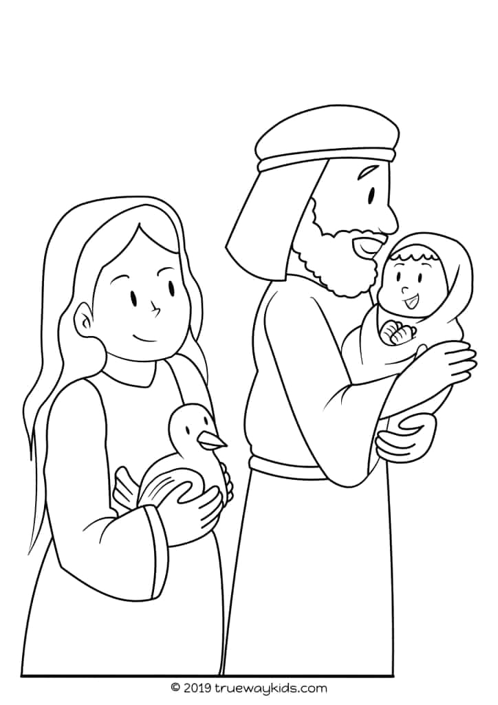 Simeon and Anna See Jesus Coloring Page Simeon and Anna – Jesus Presented In the Temple Trueway Kids