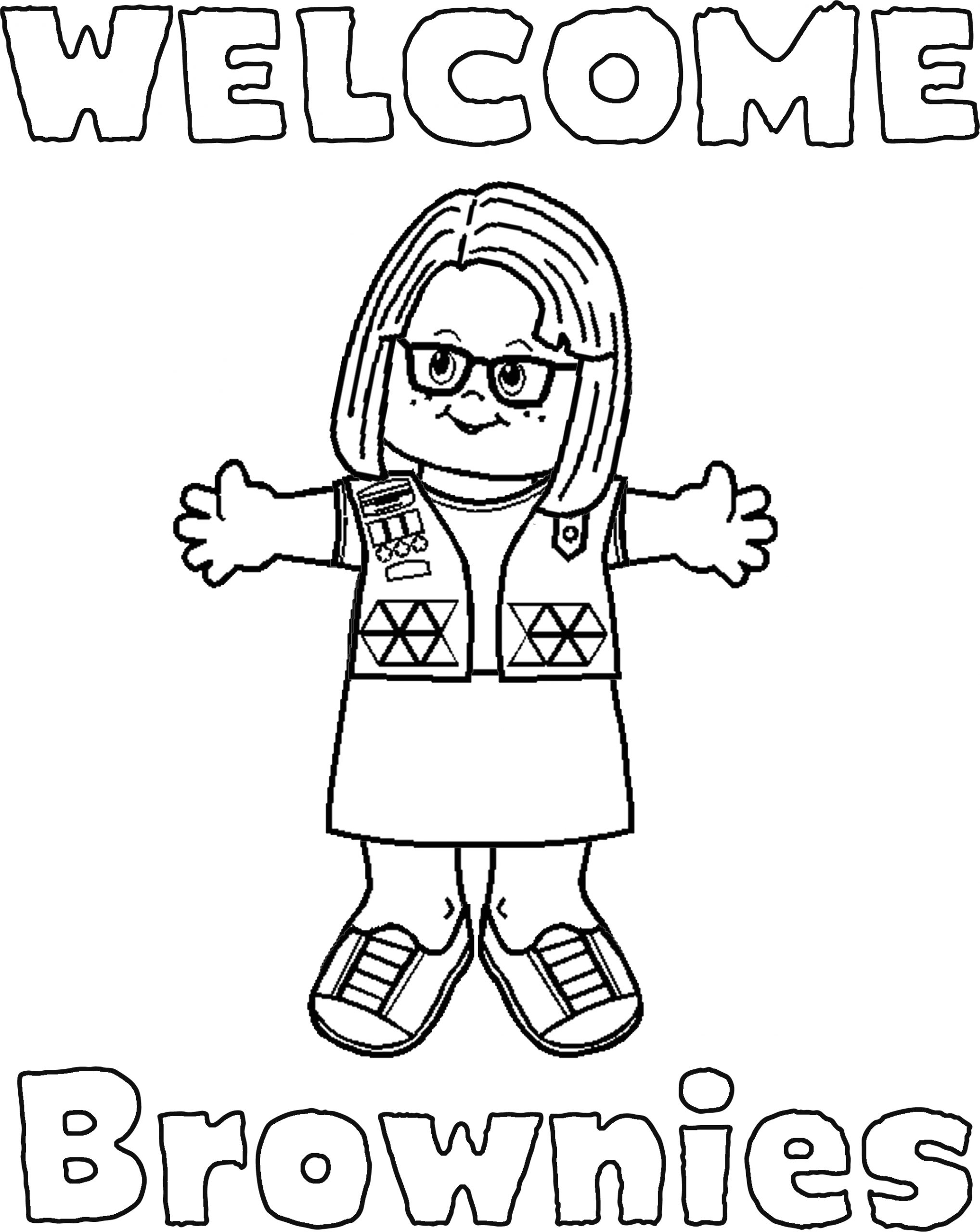 girl scout brownies coloring pages