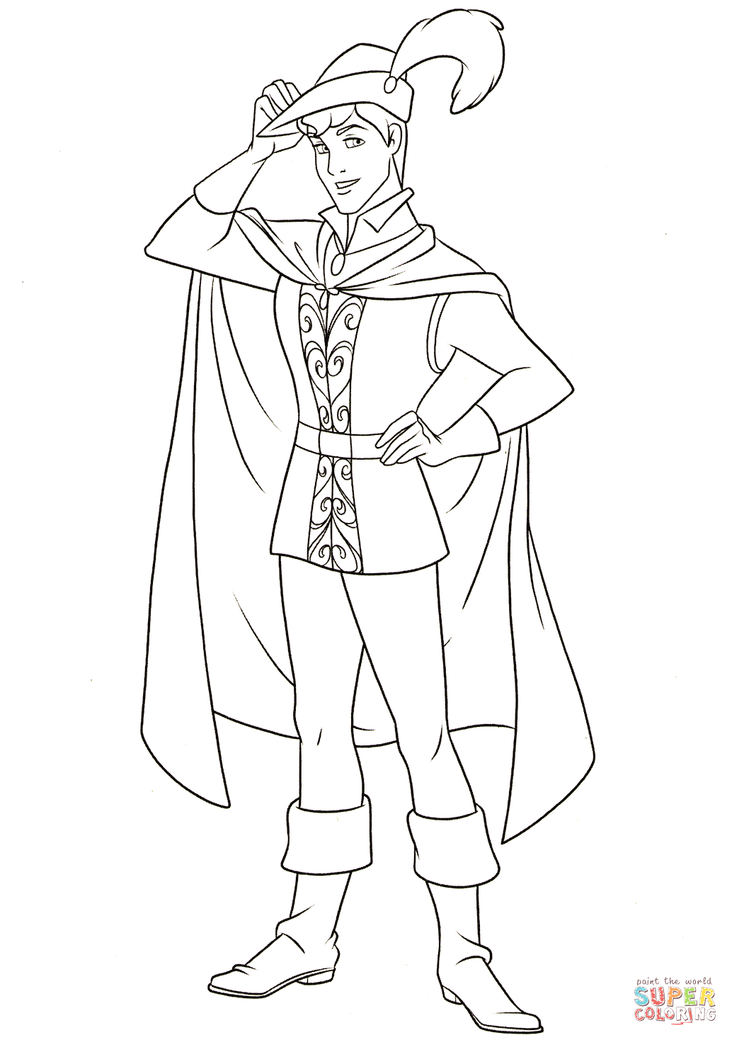 Sleeping Beauty and Prince Philip Coloring Pages Prince Phillip Coloring Page