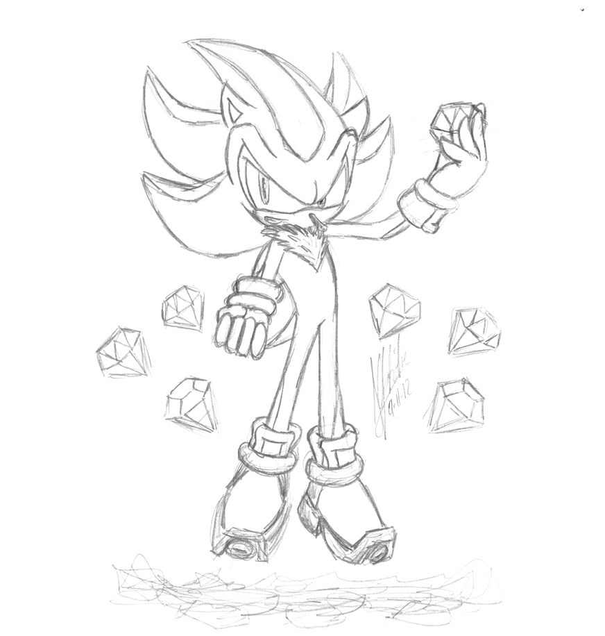 super sonic the hedgehog chaos emeralds coloring pages sketch templates