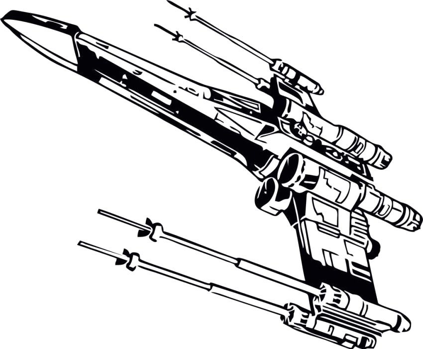 star wars x wing fighter coloring pages