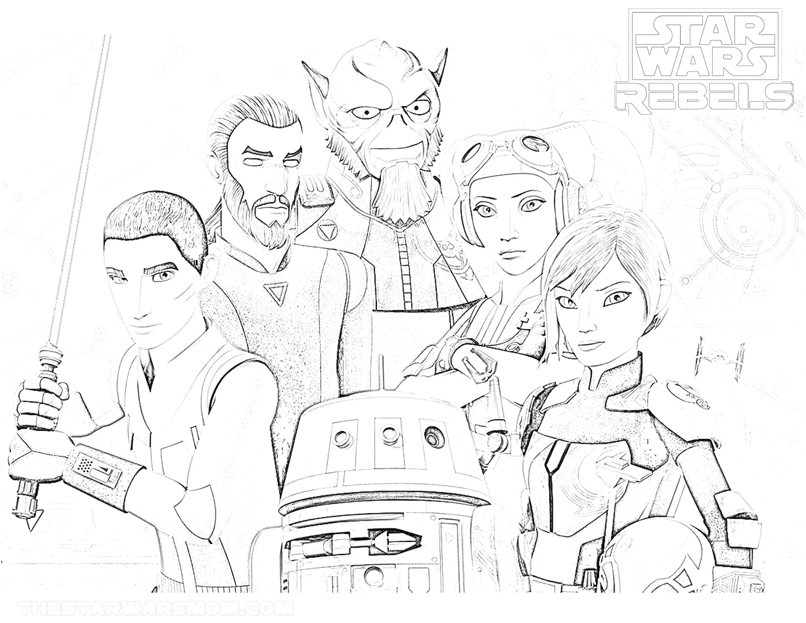 Star Wars Rebels Coloring Pages to Print Star Wars Rebels Season 4 Coloring Page the Star Wars