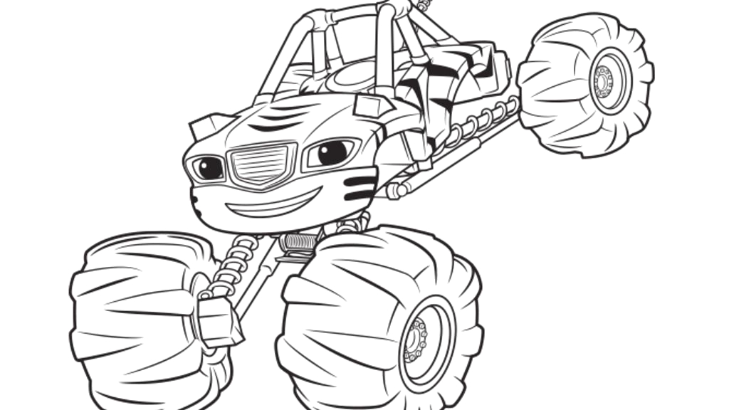 Stripes Blaze and the Monster Machines Coloring Pages Blaze and the Monster Machines Stripes Colouring Pages