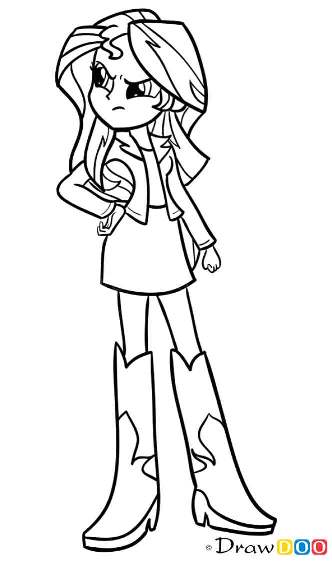 how to draw sunset shimmer equestria girls
