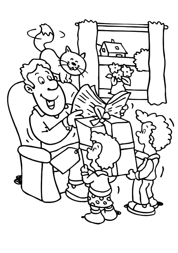 prepare big t for best dad in the world coloring pages
