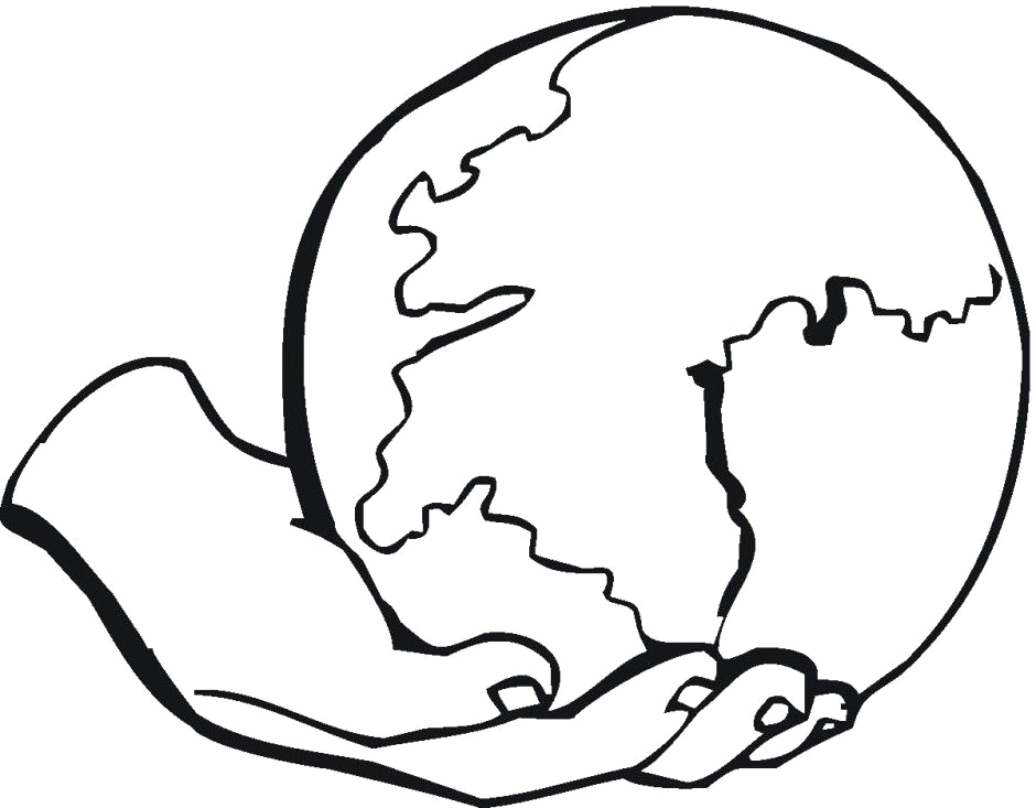 world globe coloring pages