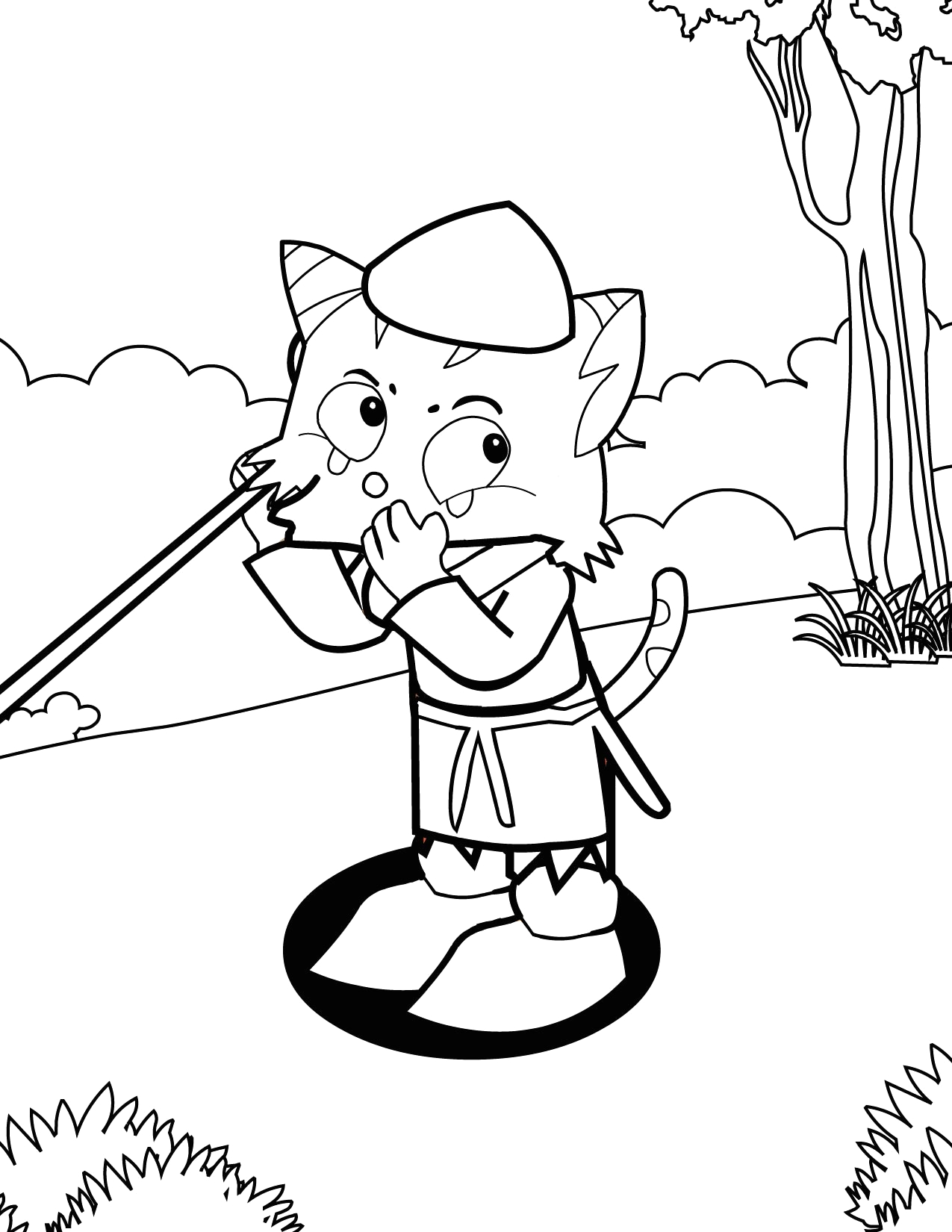 the boy who cried wolf coloring page