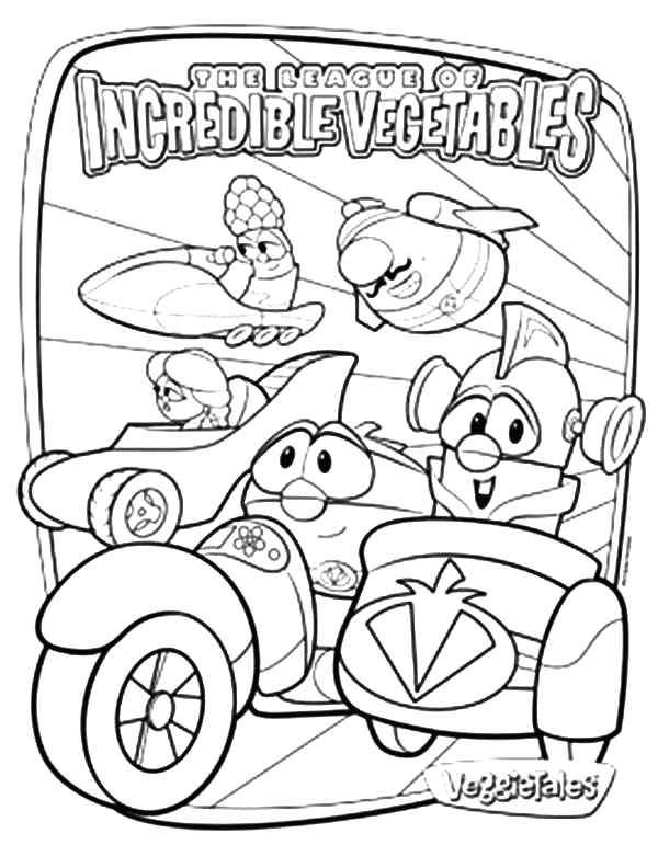 The League Of Incredible Vegetables Coloring Pages Larry Boy the League Incredible Ve Ables Coloring