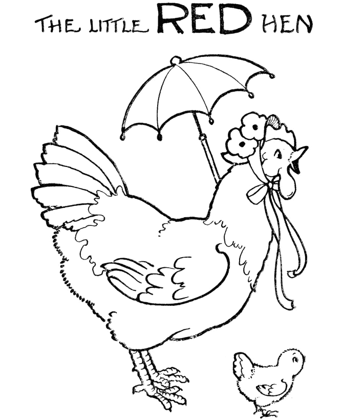 The Little Red Hen Coloring Pages Free Little Red Hen Colouring Pages Free 1920s
