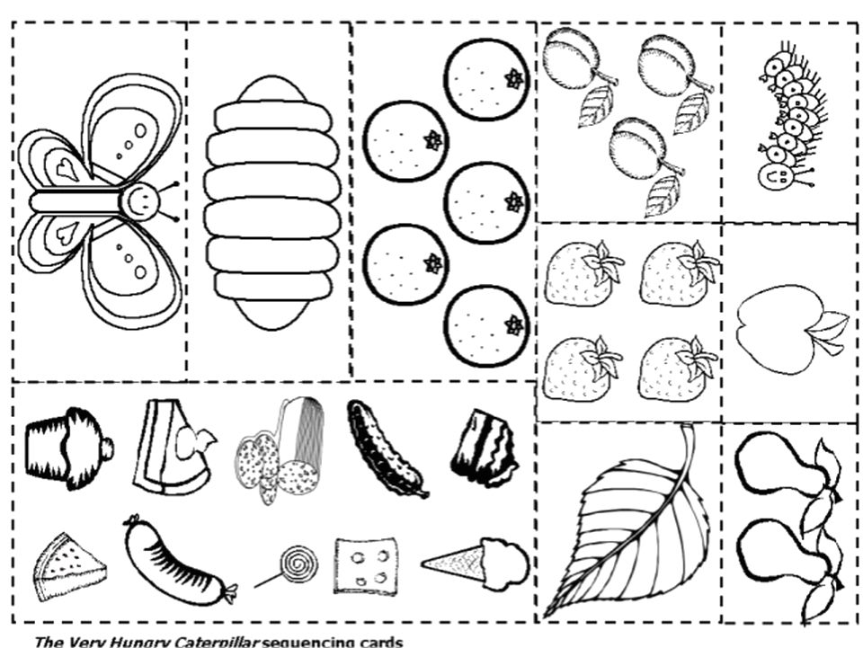 the very hungry caterpillar coloring pages free for kids