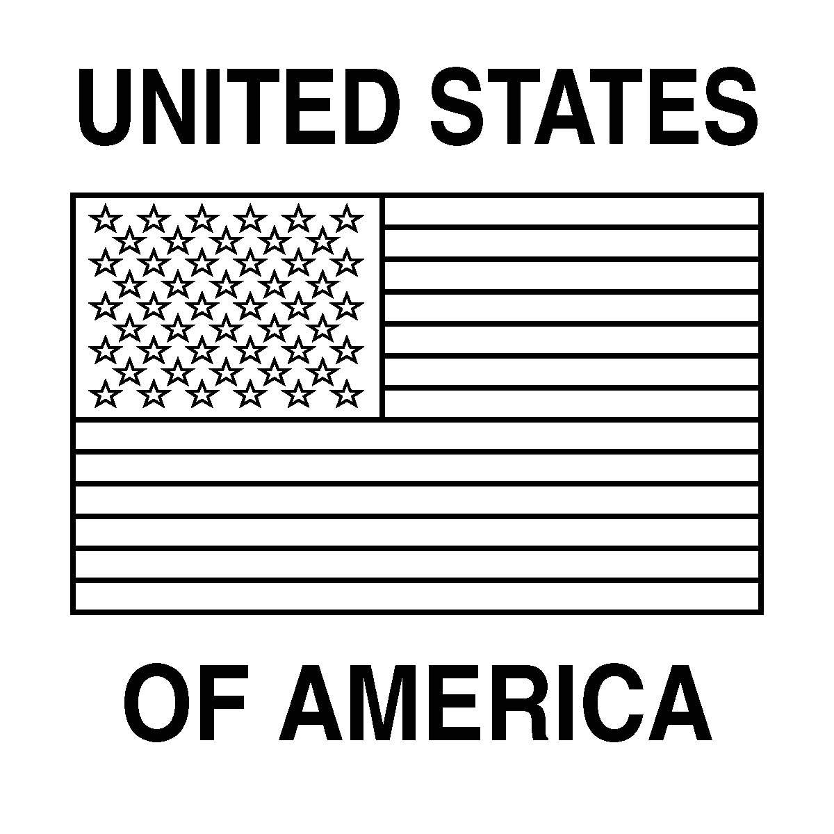 United States Of America Flag Coloring Page Clip Art Flags United States Color