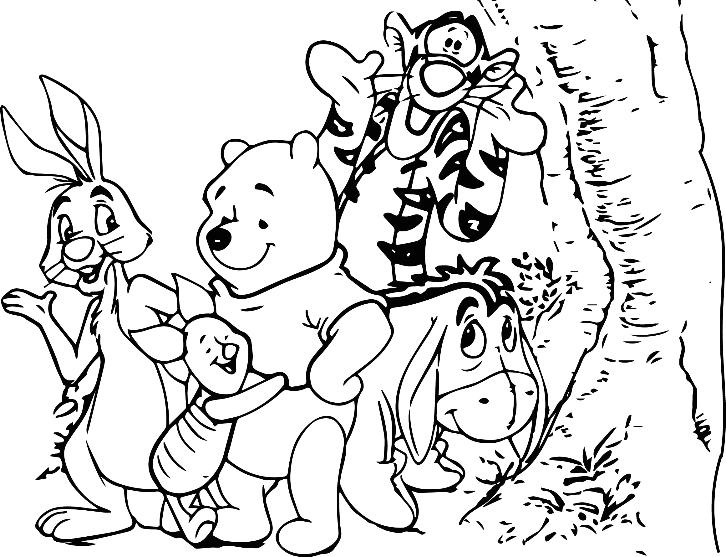 baby winnie pooh and piglet coloring