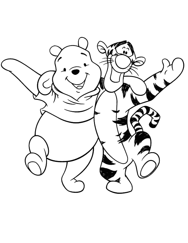 tigger and pooh coloring pages