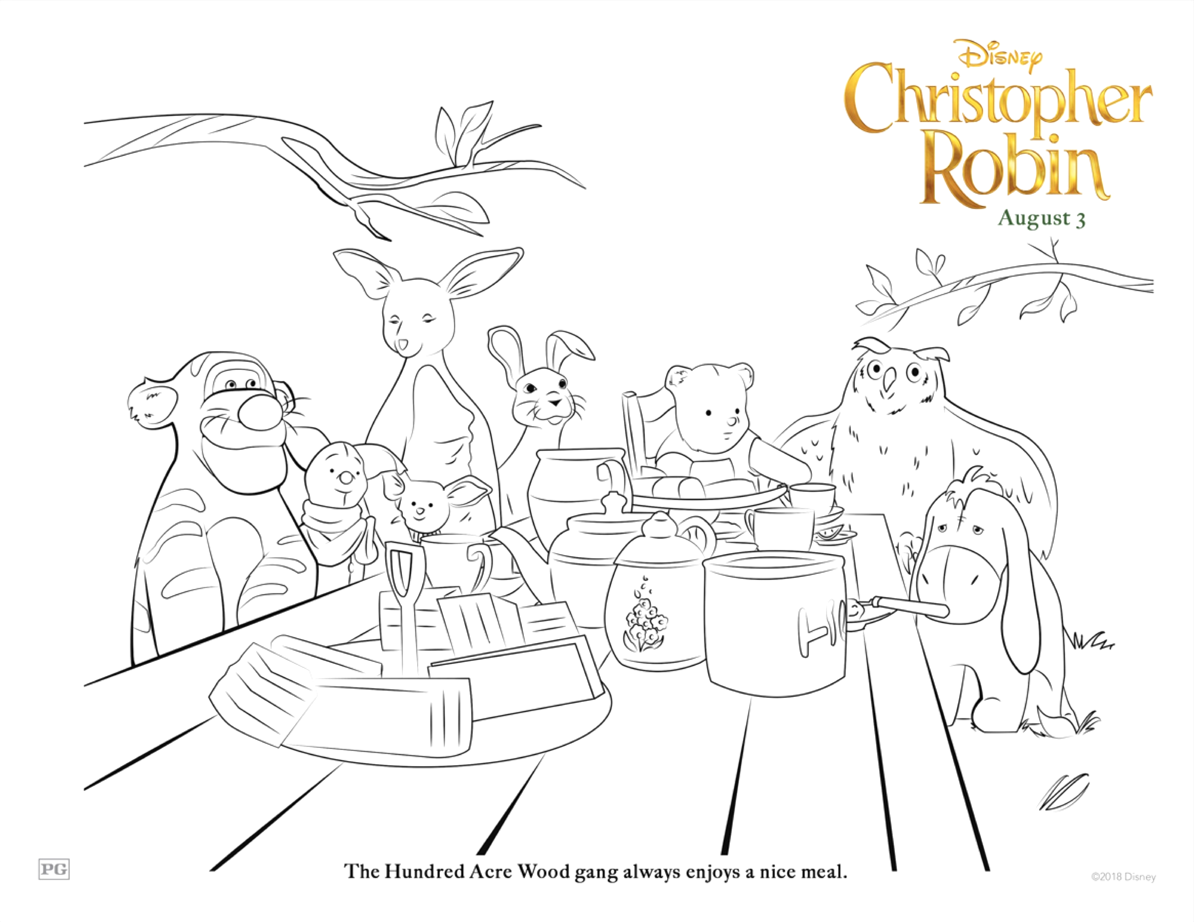 christopher robin winnie the pooh printable coloring sheets