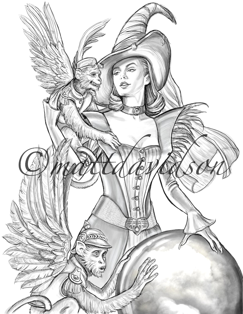 coloring pages for adults wicked witch