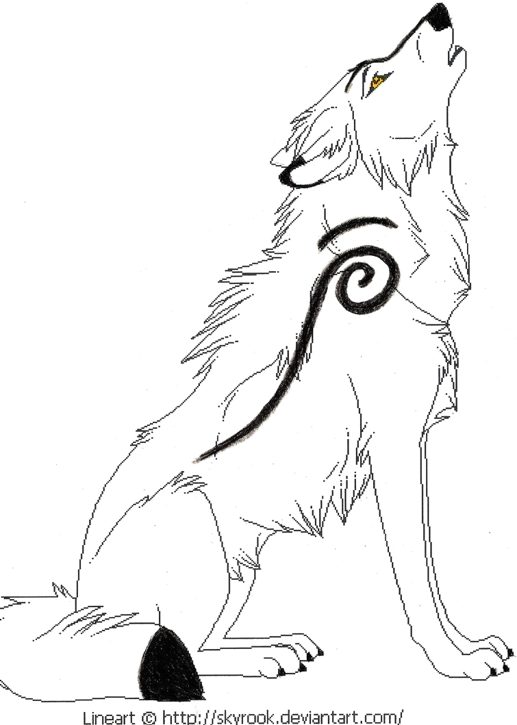 sketches of wolves howling at the moon sketch templates